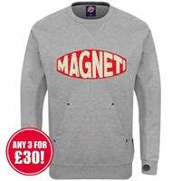 Retro Legends Magneti sweatshirt in grey