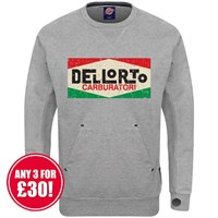 Retro Legends sweatshirt in grey Dellorto