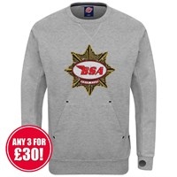 Retro Legends sweatshirt in grey BSA Gold Star