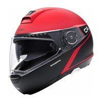 Schuberth C4 helmet in spark red