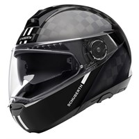 Schuberth C4 Pro Carbon Fusion helmet in black / white