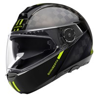 Schuberth C4 Pro Carbon Fusion helmet in black / yellow
