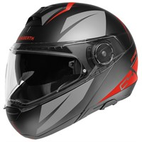 Schuberth C4 Pro Merak helmet in grey / red