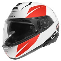 Schuberth C4 Pro Merak helmet in white / red