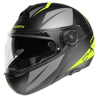 Schuberth C4 Pro Merak helmet in grey / yellow