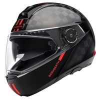 Schuberth C4 Pro Carbon Fusion helmet in black / red