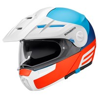 Schuberth E1 Cut helmet in red / blue