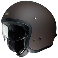 Shoei JO helmet in brown