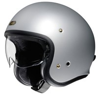 Shoei JO helmet in matt silver