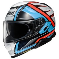 Shoei GT Air 2 Haste TC2 helmet in white/ blue/ red