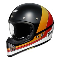 Shoei Ex-Zero Equation TC10 helmet in black/ orange/ red