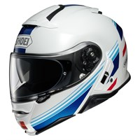 Shoei Neotec 2 Separator TC10 helmet in white / blue