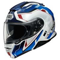 Shoei Neotec 2 Respect TC10 helmet in white / blue