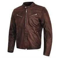 Spidi Garage Brown Leather Jacket