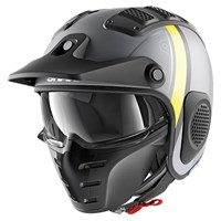 Shark X-Drak Terrence helmet in matt grey / yellow
