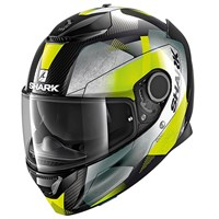 Shark Spartan Carbon Kitari helmet in yellow