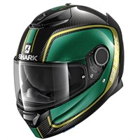 Shark Spartan Carbon Priona helmet in green