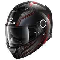 Shark Spartan Carbon Silicium helmet in red