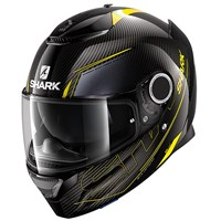 Shark Spartan Carbon Silicium helmet in yellow