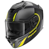 Shark Spartan GT Tracker MAT AKY helmet in grey/ black
