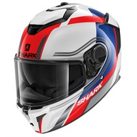 Shark Spartan GT Tracker WBK helmet in white/ red
