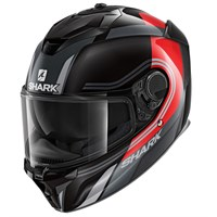 Shark Spartan GT Tracker KRS helmet in black/ red