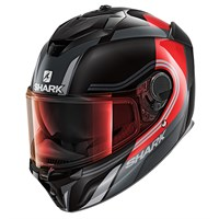 Shark Spartan GT visor in light iridium red