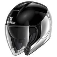 Shark Citycruiser helmet in dual black and silver