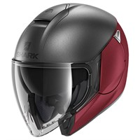 Shark Citycruiser helmet in dual matt anthracite and red