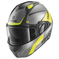 Shark Evo GT helmet Encke in matt grey / yellow (AYK)