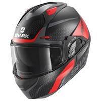 Shark Evo GT helmet Encke in matt black / red (KRA)