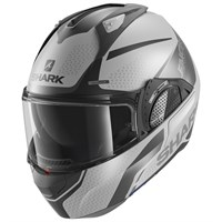 Shark Evo GT helmet Encke in matt silver / black (SAK)