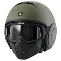 Shark Streetfighter Drak Green Helmet