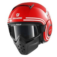 Shark Streetfighter Drak 72 Red Helmet