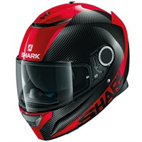 Shark Spartan Carbon Skin Black/Red Helmet