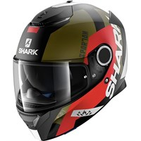 Shark Spartan Apics Black/Red Helmet