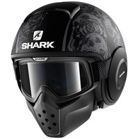 Shark Streetfighter Drak Sanctus Black Helmet