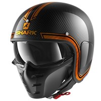 Shark S-Drak Vinta helmet in black / orange