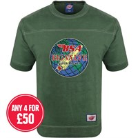 Retro Legends Classic BSA Big Valve T-sweat in green