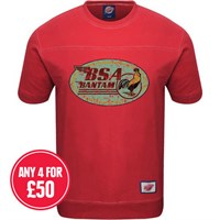 Retro Legends Classic BSA Bantam T-sweat in red