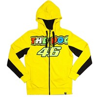 Rossi ladies Zip Hoodie in yellow