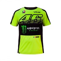 Rossi 2017 Monster T-Shirt Black Yellow