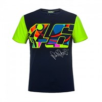 Rossi 2017 46 T-Shirt Blue Yellow