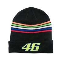 Rossi 2018 Beanie Hat Black Stripes