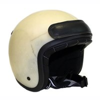 Vanson Raw Star White helmet