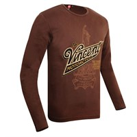 Vincent Motorcycle Long Sleeve T-shirt in mocha