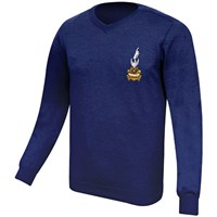 Vincent V Neck Jumper in navy
