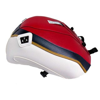 Bagster Tank cover CBR 1000 - red / white / navy blue stripe / gold piping