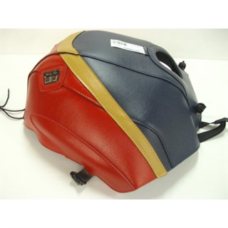Bagster Tank cover CBR 1000 - navy blue / red / gold stripe