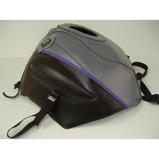 Bagster Tank cover CBR 600F - steel grey / black / purple piping